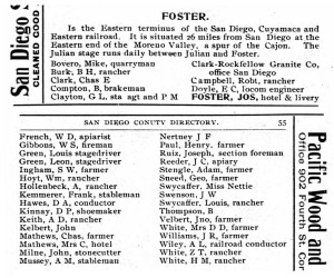1897 directory page for Foster