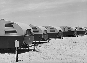 Trailers, FSA defense workers camp, May 1941