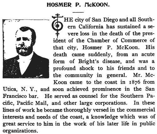 Hosmer P McKoon Land of Sunshine page